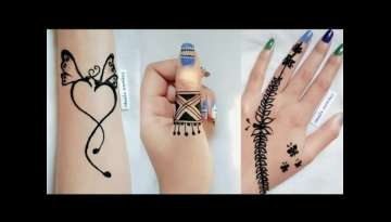 Beautiful Simple & Easy Stylish Mehndi Design