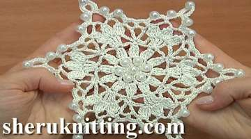 Crocheted Snowflake For Christmas Tree Tutorial