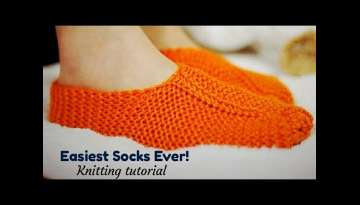 How to knit easiest ever sock/slipper